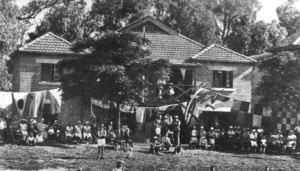 Opening day of the current boat-shed in 1933
