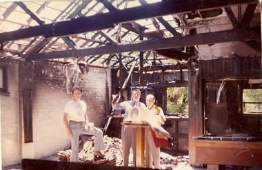 Aftermath of the fire, 1975