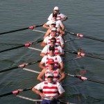 Masters mens eight rowing